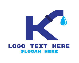 Plumbing - Plumbing Letter K logo design