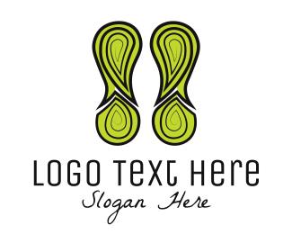 Footprint - Green Footprint logo design
