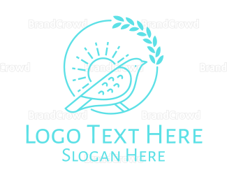 Conservation - Stroke Bird In The Morning logo design