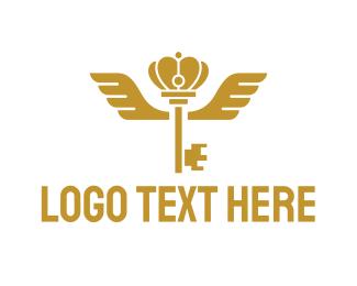 Wing - Royal Wing Key logo design