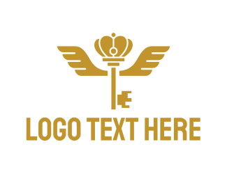 Royal - Royal Wing Key logo design