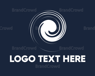 Rotation - White Spiral logo design
