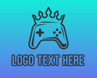 King - Crown Game Controller logo design