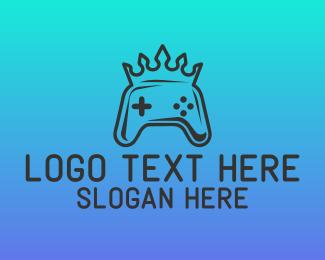 Mvp - Crown Game Controller logo design