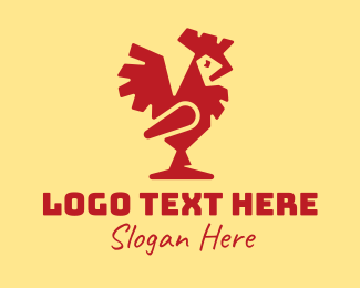 Creature - Modern Red Rooster logo design