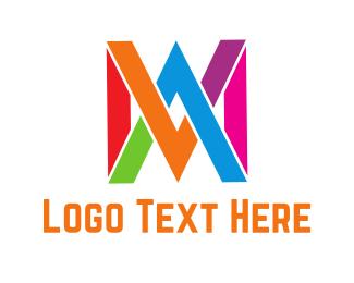 Multicolor - M & W logo design