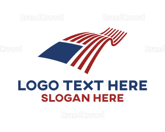 New Jersey - Flying American Flag logo design