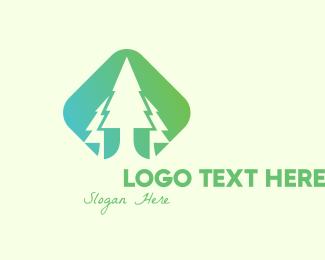 Symbol - Gradient Pine Tree logo design