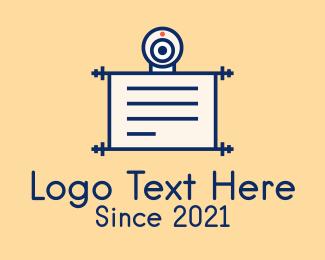 Learning - Online Learning Document logo design