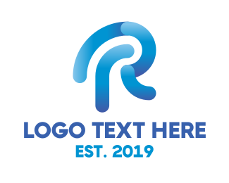 Search Engine - Modern R Outline logo design