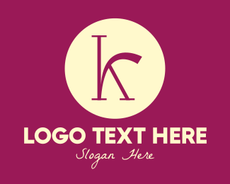 Trendy - Purple Fancy Letter K logo design