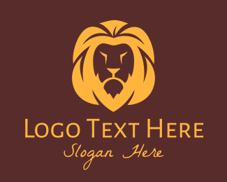 Jungle Animal - Lion Head Mascot logo design