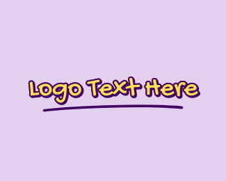 Handwritten - Cute Handwritten Wordmark logo design