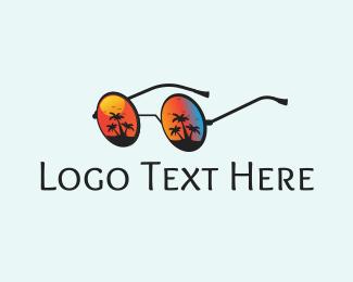 Travel Agency - Beach Glasses logo design