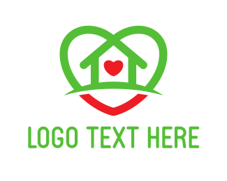 Society - House Heart logo design