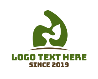 Grass - Abstract Green Tree logo design