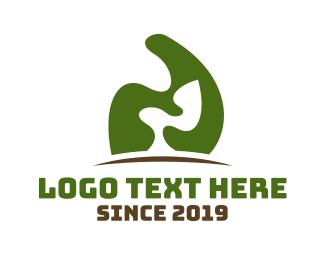 Patio - Abstract Green Tree logo design