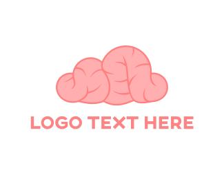 Intelligent - Pink Brain logo design