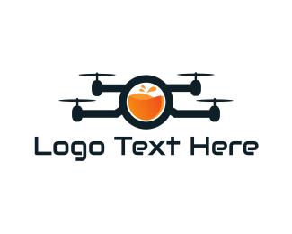 Spy - Juice Drone logo design