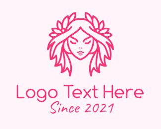 Vlogger - Pink Pretty Woman logo design