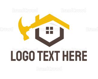 Demolish - Yellow Hammer House logo design