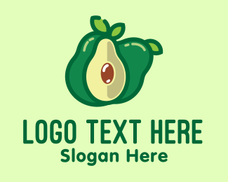 Guacamole - Fresh Avocado Fruit  logo design