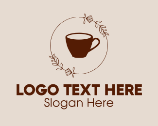 Flowers - Coffee Cup Flowers logo design