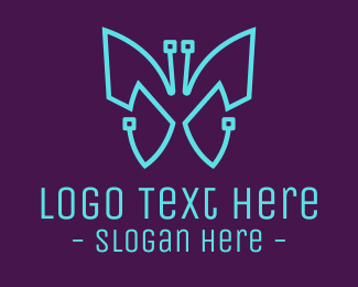 Webhosting - Tech Butterfly  logo design