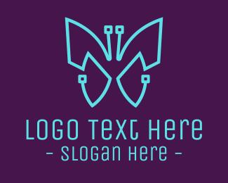 Technician - Tech Butterfly logo design