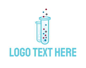 Scientist - Lab Tubes logo design