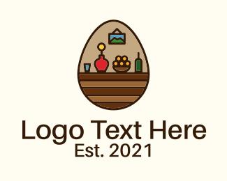 Home Accessories - Home Decor Egg logo design