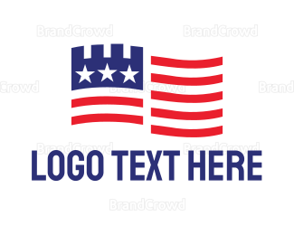America - American Castle logo design