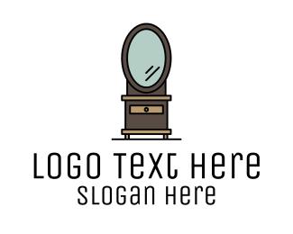 Auction - Dresser Mirror Furniture logo design