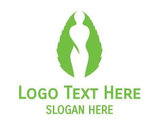 Statue - Green Female Silhouette logo design