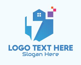 Pixels - Digital Tech House logo design