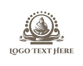 Idol - Black Buddha  Altar logo design