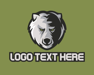 Professional Athlete - Bear Mascot  logo design