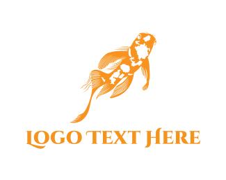 Koi - Asian Goldfish logo design