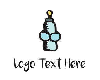 Bottle - Baby Bottle logo design