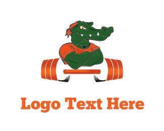 Weights - Strong Alligator logo design