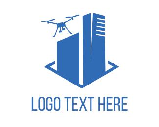 Uav - Drone Building logo design