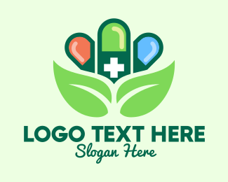 Alternative Healing - Herbal Pills Pharmacy logo design