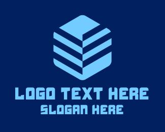 Twitch Streamer - Digital 3D Cube  logo design