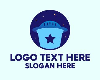 Legend - UFO Alien Flying Saucer logo design