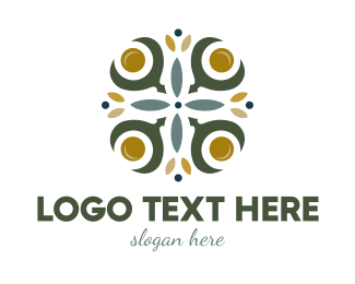 Celtic - Floral Cross logo design