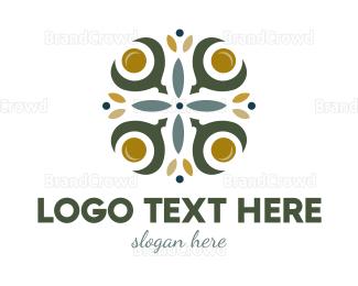 Botanical - Floral Cross logo design