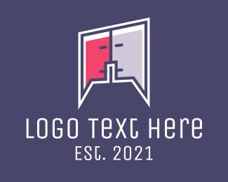 Interaction - Online Human Chat logo design