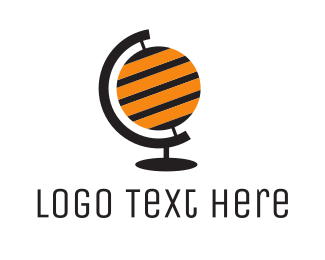 World Map - Bee Globe  logo design