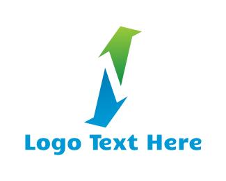 Upload - Up & Down logo design