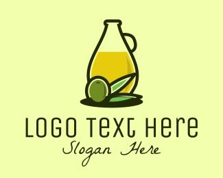 Marketplace - Natural Olive Oil Bottle logo design